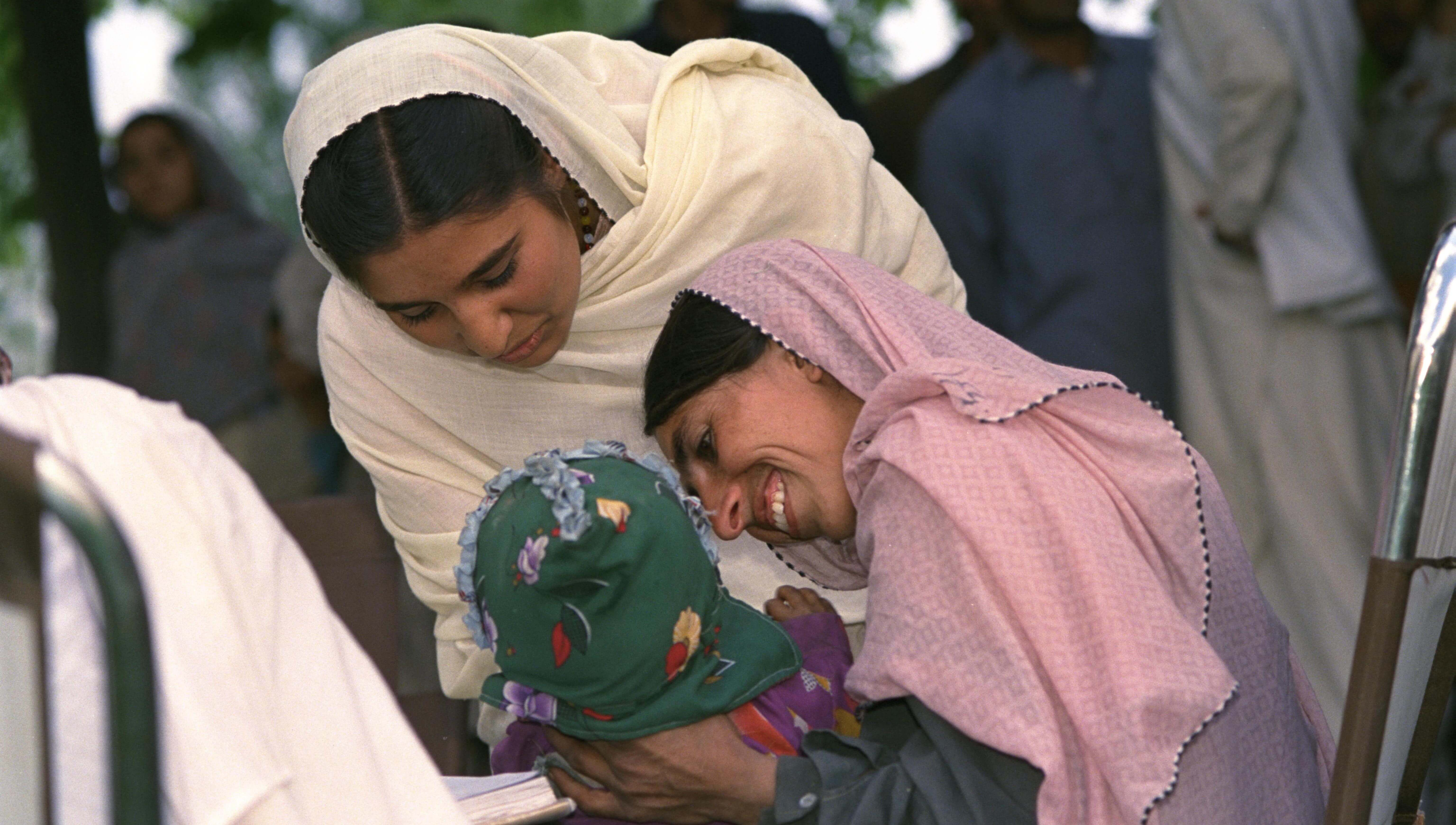 A woman and her child at a health screening which is part of the Chitral Child Survival Program