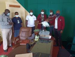 Uasin Gishu Youth Bunge members receive masks from Rivatex